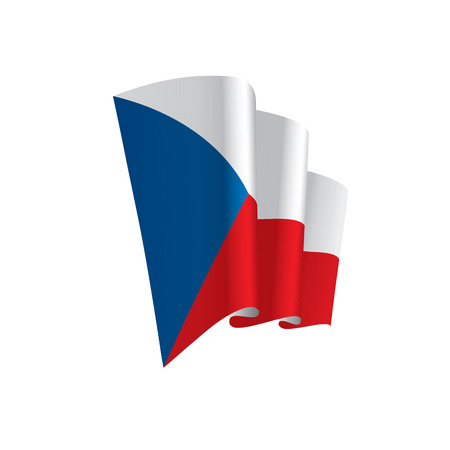 Czechia flag, vector illustration