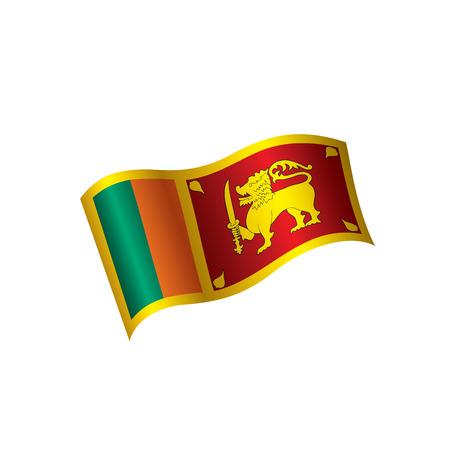 Sri Lanka flag, vector illustration on a white background Illustration
