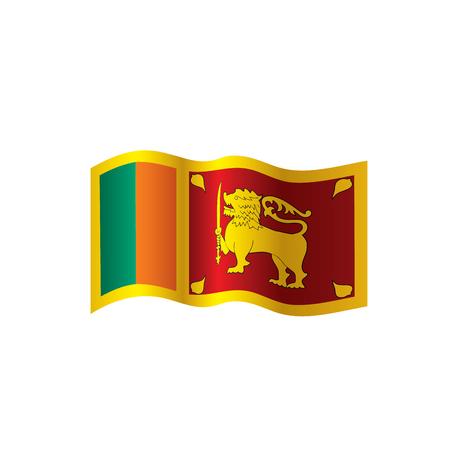 Sri Lanka flag, vector illustration Illusztráció