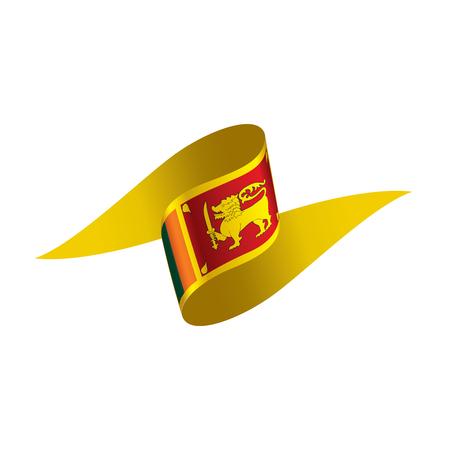 Sri Lanka flag, vector illustration on a white background 向量圖像