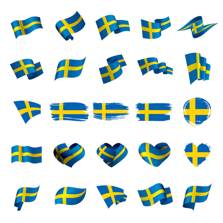 Sweden flag, vector illustration