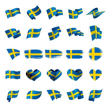 Vlag van Zweden, vectorillustratie
