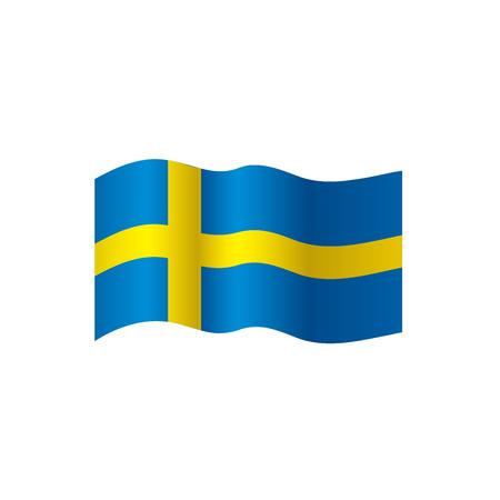 Sweden flag, vector illustration on a white background Vettoriali