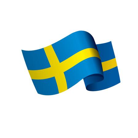 Sweden flag, vector illustration