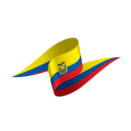 Ecuador flag, vector illustration