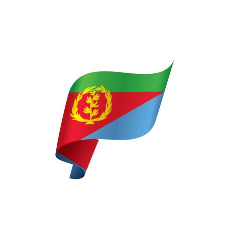 Eritrea flag, vector illustration