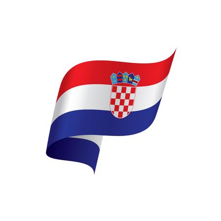 Croatia flag, vector illustration on a white background Illustration