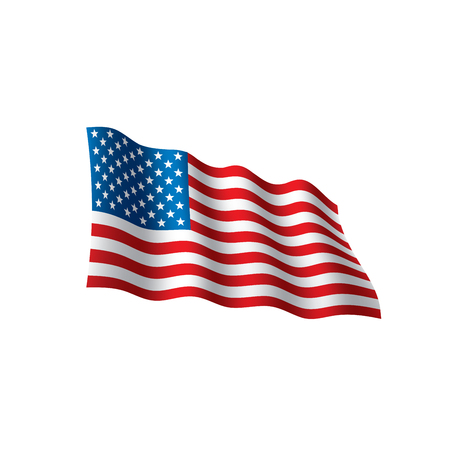 USA Flag isolated on white background.