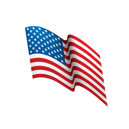 USA flag isolated design vector illustration
