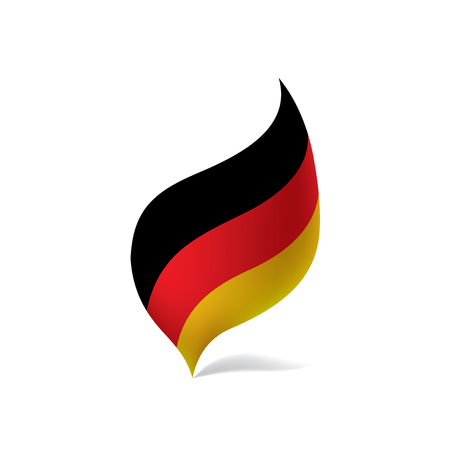Germany flag leaf design isolated vector illustration