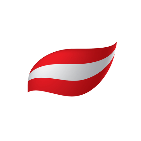 Austria flag, vector illustration