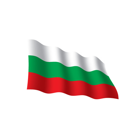 Bulgaria flag, vector illustration on white background.