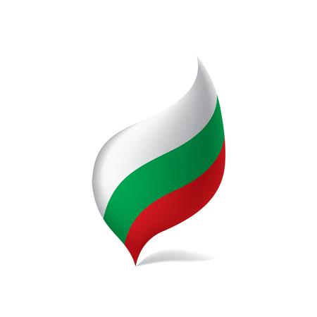 Bulgaria flag, vector illustration on white background.
