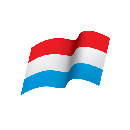 Bandiera olandese, illustrazione vettoriale su sfondo bianco Vettoriali