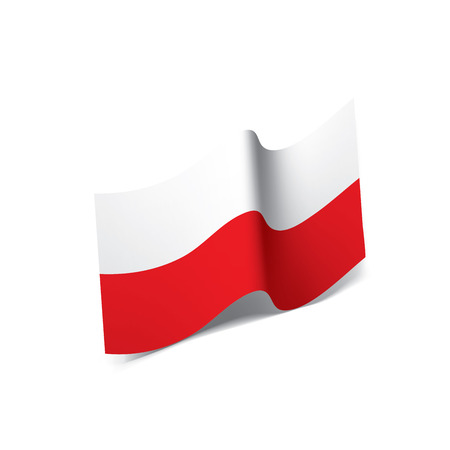 Poland flag, vector illustration on a white background Vectores