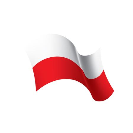 Poland flag, vector illustration on a white background  イラスト・ベクター素材