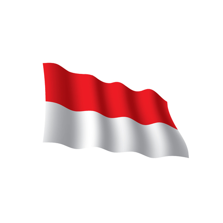 Indonesia flag, vector illustration on a white background. Ilustração