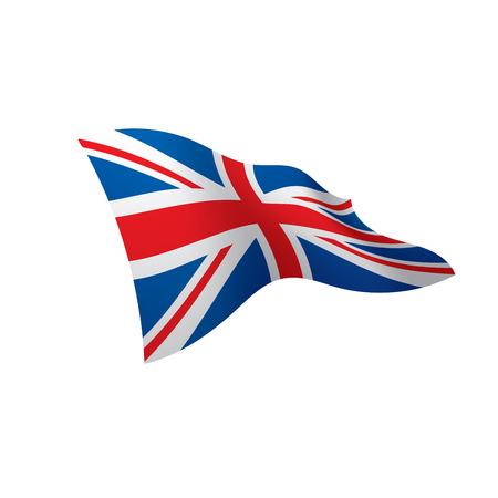 Bandera del Reino Unido, ilustración vectorial sobre un fondo blanco