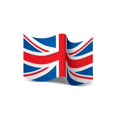 Flag of the United Kingdom, Vector illustration.