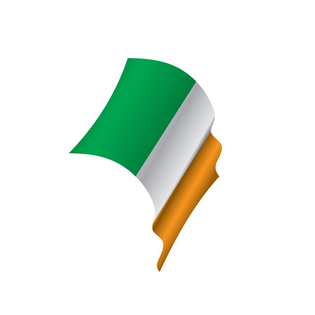 Ireland flag, vector illustration on a white background.