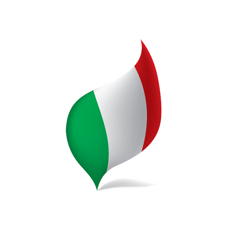 Italien Flagge, Vektor-Illustration