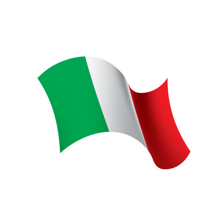 Italy flag, vector illustration on a white background. Фото со стока - 95194861