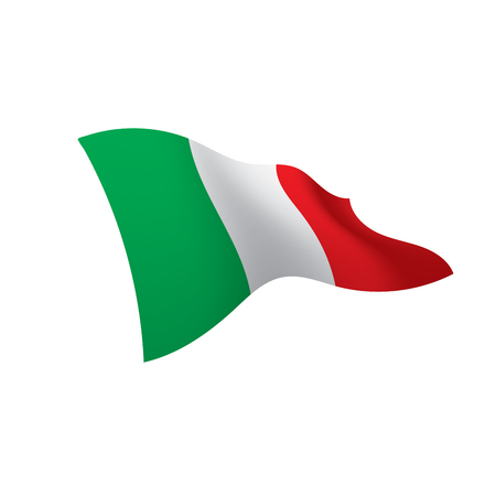 Italy flag vector illustration on a white background