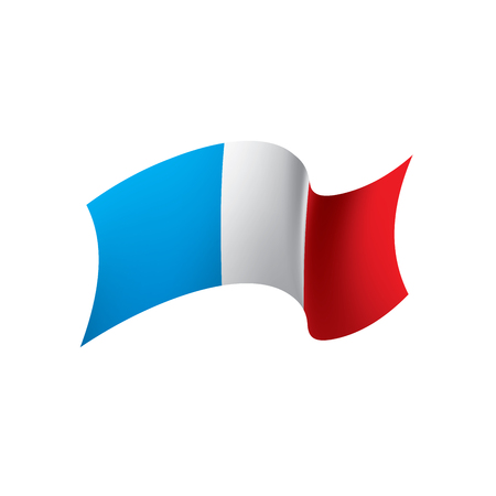 France flag, vector illustration on a white background  イラスト・ベクター素材