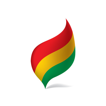 Bolivia flag, vector illustration