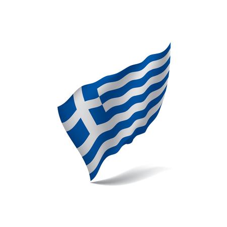 Griechenland-Flagge, Vektorillustration auf einem weißen Hintergrund Vektorgrafik