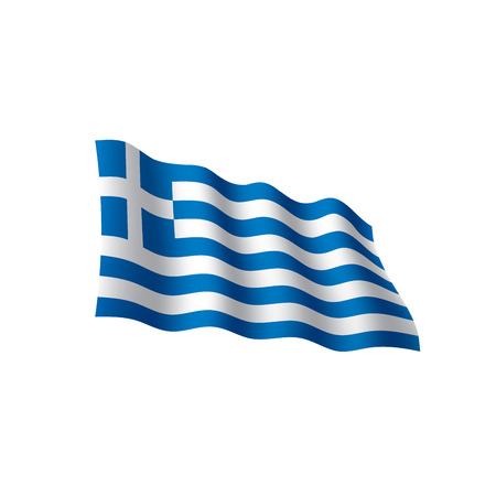 Greece flag, vector illustration on colorful presentation. Illustration