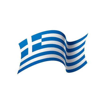 Griechenland-Flagge, Vektorillustration auf einem weißen Hintergrund