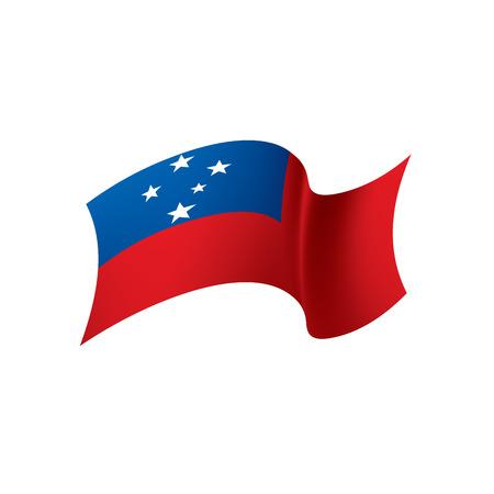 Samoa flag, vector illustration on a white background Illustration