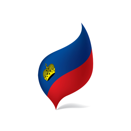 Liechtenstein flag, vector illustration on a white background