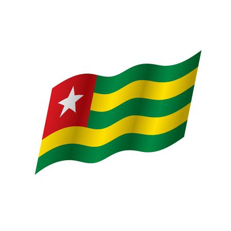 Togo flag, vector illustration on a white background