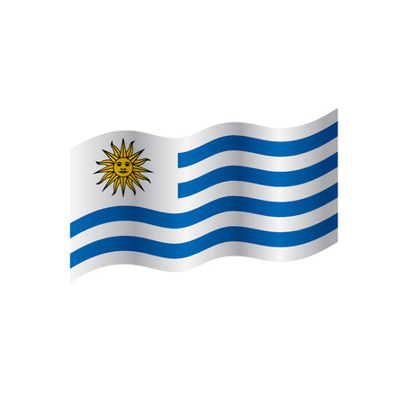 Uruguay flag, vector illustration on a white background Imagens - 95309378
