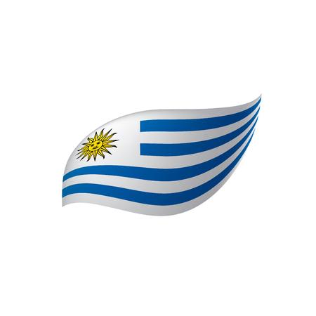 Uruguay flag, vector illustration