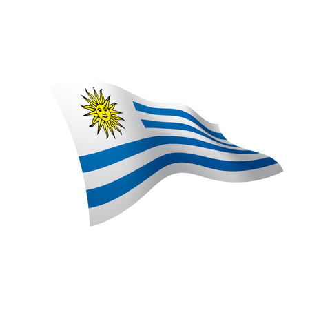 Uruguay flag, vector illustration on a white background