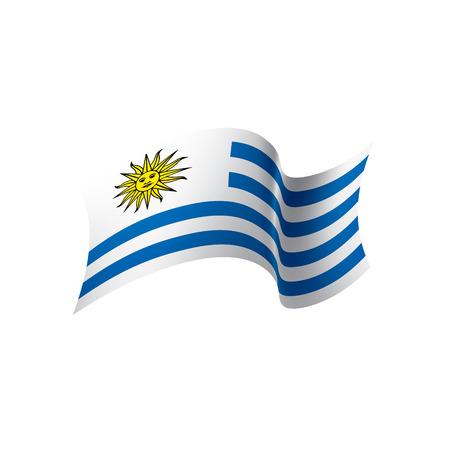 Drapeau de l'Uruguay, illustration vectorielle sur fond blanc