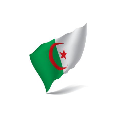Algeria flag, vector illustration
