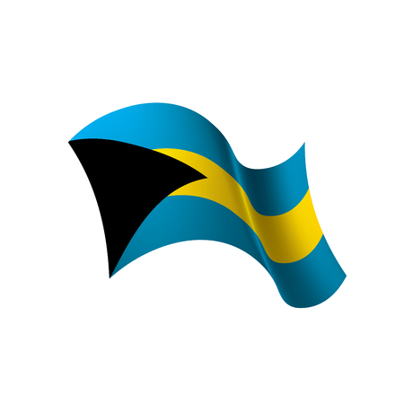 Bahamas flag, vector illustration.