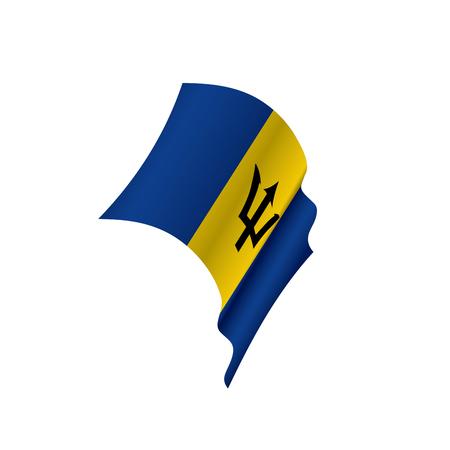 Barbados flag, vector illustration Illustration