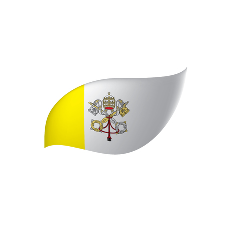 Vatican flag, vector illustration on a white background