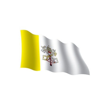 Vatican flag, vector illustration Illustration