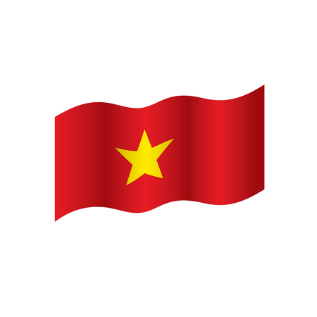 Vietnam flag, vector illustration on a white background 免版税图像 - 95330076