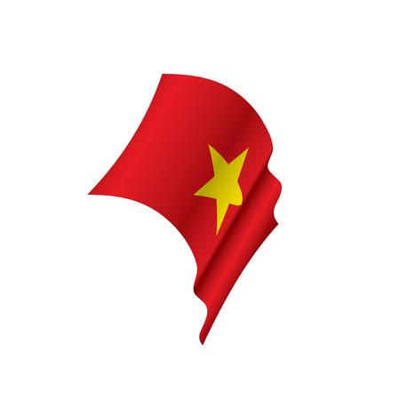 Vietnam flag, vector illustration Illustration