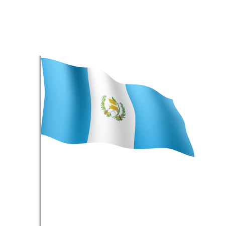 Guatemala flag, vector illustration