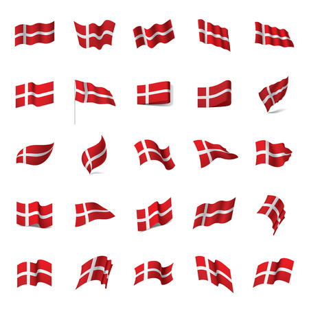 Denmark flag, vector illustration  イラスト・ベクター素材