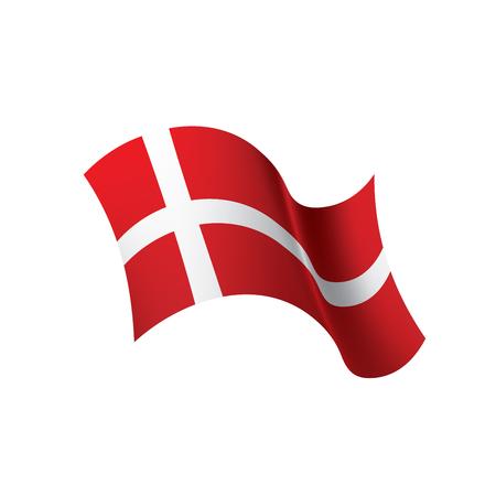 Denmark flag, vector illustration 일러스트