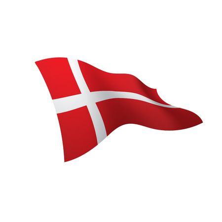 Denmark flag, vector illustration Иллюстрация